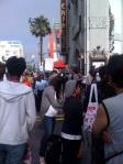 Fans blocking Hollywood Blvd (it only got worse)